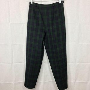 Pendleton Blackwatch Tartan Plaid Pants Wool Sz 10